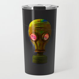 Gas Mask Trippy Design Travel Mug