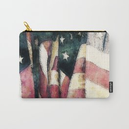 Vintage American Flags Carry-All Pouch
