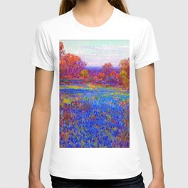 Julian Onderdonk Field of Blue Bonnets T-shirt