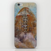 football iPhone & iPod Skins featuring Football by Michael Creese
