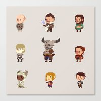 dragon age inquisition Canvas Prints featuring Dragon Age Inquisition: Companions by pyrogoth