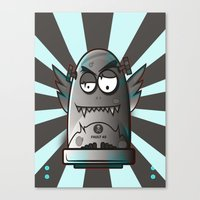 the fault Canvas Prints featuring Fault 45 03 (its not his fault) by Face Leakage