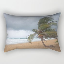 Windswept Palm tree Rectangular Pillow