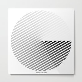 Stripes Can be in a Disc Metal Print