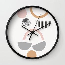 Lysandra - earthtone art print, earthtones, abstract art, minimalist art print, Wall Clock