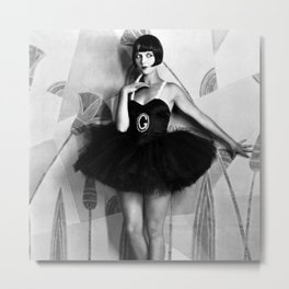 Louise Brooks, The Girl That Danced the Charleston, Jazz Age Flapper black and white photography - photographs wall decor Metal Print
