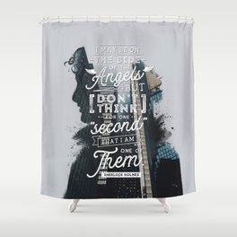 Sherlock - Angels Shower Curtain