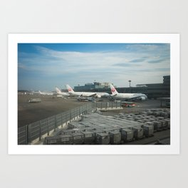 Airplane in Narita Airport Art Print