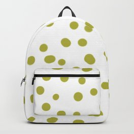 Yellow dots in white pattern Backpack