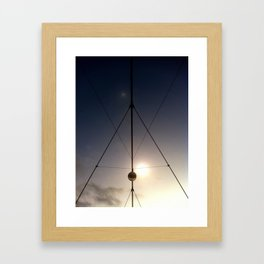triangled lights Framed Art Print