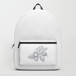Honey Bee Line Drawing Backpack