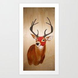 Lucha(deer) Art Print
