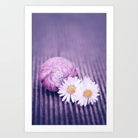 daisies Art Prints featuring DAISIES by VIAINA