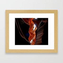 Antelope leap Framed Art Print
