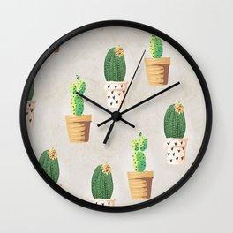 Concrete - Cactus Wall Wall Clock