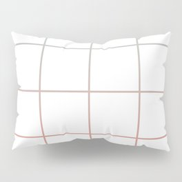 Large Checks Peach Echo & Limpet Shell Gradient Pattern Pillow Sham