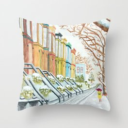 Winter in NYC Throw Pillow