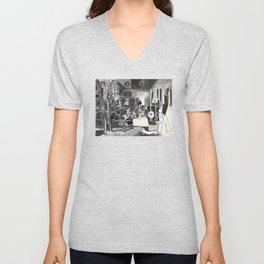 Pablo PIcasso The Maids Of Honor, Las Meninas, after Velázquez, 1957 Artwork Reproduction, Tshirts, Unisex V-Neck