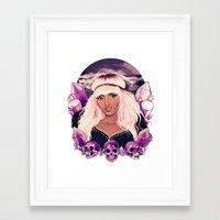 minaj Framed Art Prints featuring Sugilite  by Riadoodles