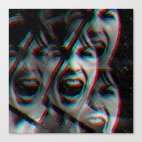 psycho Canvas Prints featuring PSYCHO by Inception of The Matrix