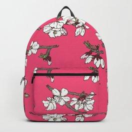Almond tree in bloom Backpack