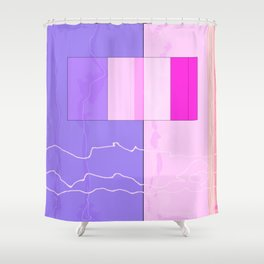 Squares combined no. 10 Shower Curtain