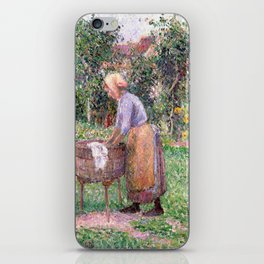 Camille Pissarro A Washerwoman at Éragny iPhone Skin