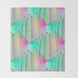 pencil pattern -4- Throw Blanket