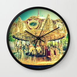 Carousel Merry-Go-Round Wall Clock