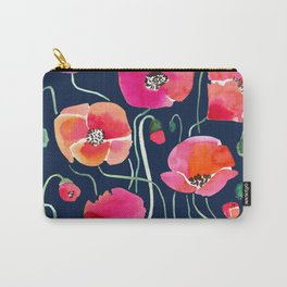 Wild Poppies Dark Carry-All Pouch