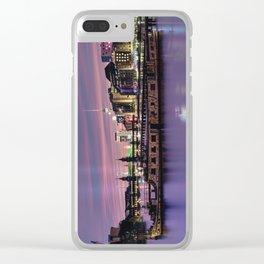 Berlin Purple Clear iPhone Case