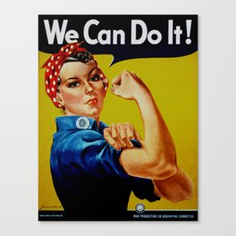 We Can Do It - WWII Poster Canvas Print