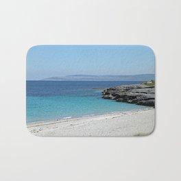 White sandy beach at the Aran Islands Bath Mat
