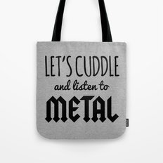 Cuddle Listen To Metal (Heather) Music Quote Tote Bag