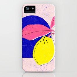 Summer squeeze - lemons iPhone Case