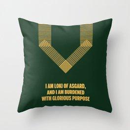 Loki Avenger Throw Pillow