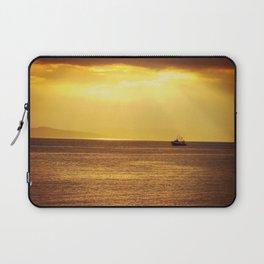 Going Fishing at sunset Laptop Sleeve