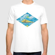 fly White MEDIUM Mens Fitted Tee