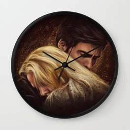 Don't Get Too Close, It's Dark Inside Wall Clock