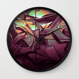 Wildstyle Close-Up - 17 Lublin Wall Clock