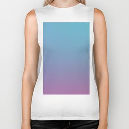 DIAMOND LOOK - Minimal Plain Soft Mood Color Blend Prints Biker Tank