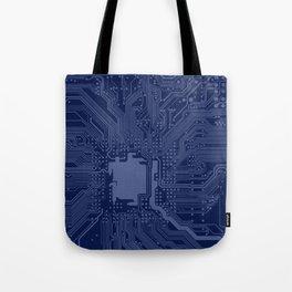 Blue Geek Motherboard Circuit Pattern Tote Bag