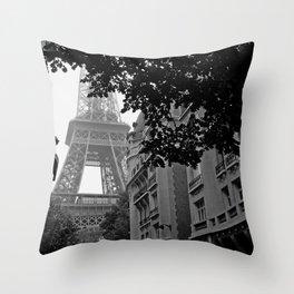 Eiffel Tower in Hiding Throw Pillow