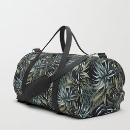 Hidden Creatures - Grey / Khaki Duffle Bag