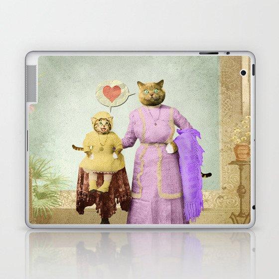 Momma Kitty Loves Her Kitten Laptop & iPad Skin