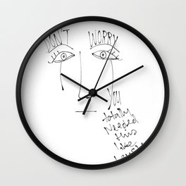 Excuses Wall Clock