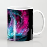 alicexz Mugs featuring The Visitor by Alice X. Zhang