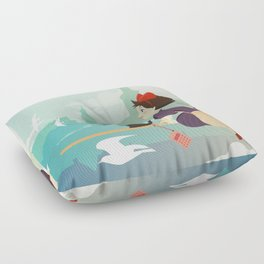Delivery Service Floor Pillow