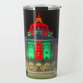City Hall Holiday Night Light 2 Travel Mug
