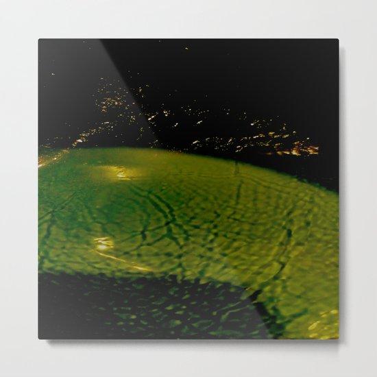 green&gold Metal Print